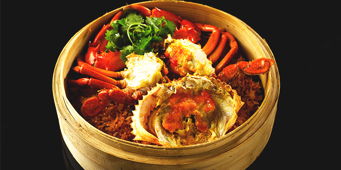 Steamed Crab with Glutinous Rice from Shin Yeh at Liang Court Shopping Centre in Clarke Quay, Singapore