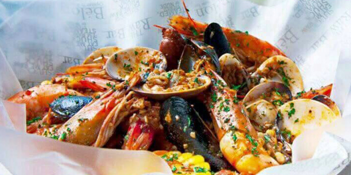 Seafood Cajun with White Sundried Tomato from The Raw Bar in Thonglor, Bangkok