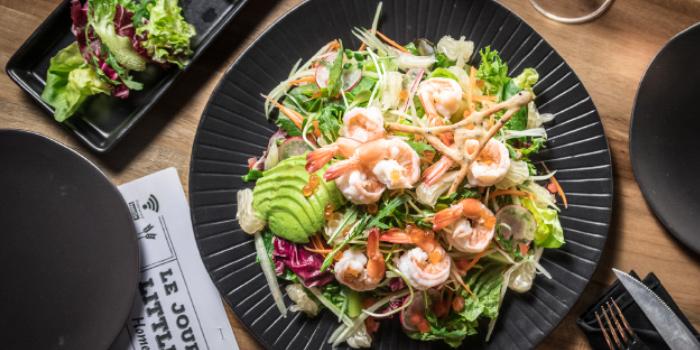Shrimp Avocado Salad from Little Paris Phuket Restaurant in Cherngtalay, Phuket, Thailand.