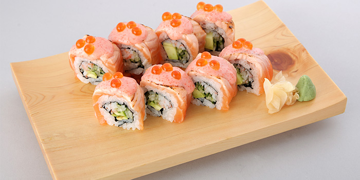 Aburi Salmon Mentai Mayo Roll from Sumire Yakitori House in Bugis, Singapore