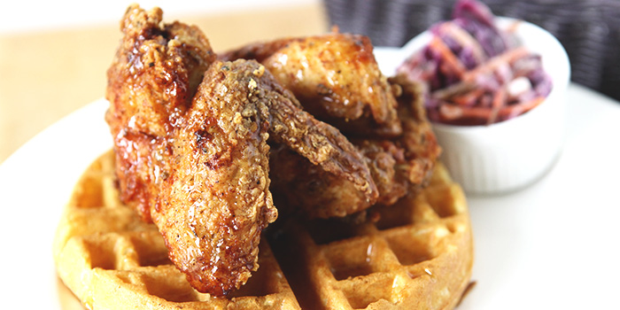 Fried Chicken & Waffles from The Fabulous Baker Boy in Clarke Quay, Singapore