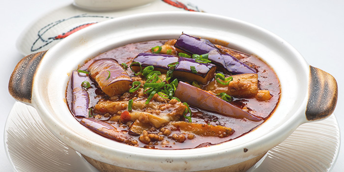 XO Eggplant Minced Pork Casserole from Xi Yan Shaw in Orchard, Singapore