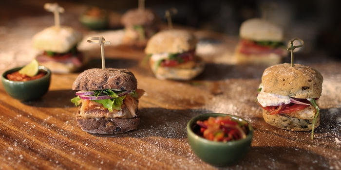Assorted Sliders at Spice Ubud