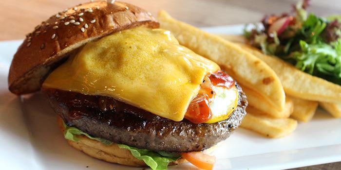 Cheese Burger from Bodacious at Biopolis in Bouna Vista, Singapore