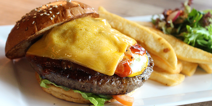 Cheese Burger from Bodacious at Biopolis in Bouna Vista, Singapore