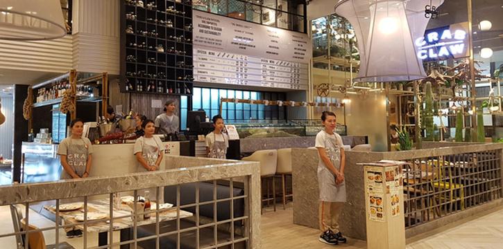 Exterior from Crab and Claw at Siam Paragon, Bangkok