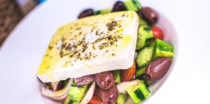 Horiatik Greek Salad from Blu Kouzina in Dempsey, Singapore
