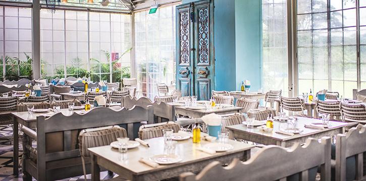 Interior of Blu Kouzina in Dempsey, Singapore