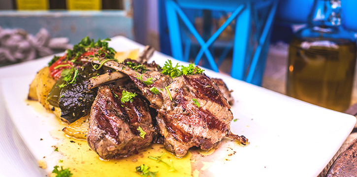 Lamb Chops Paidakia from Blu Kouzina in Dempsey, Singapore