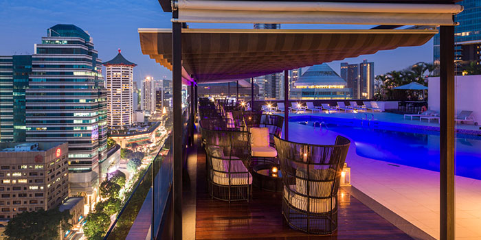 Sky Bar of il Cielo at Hilton Singapore in Orchard, Singapore