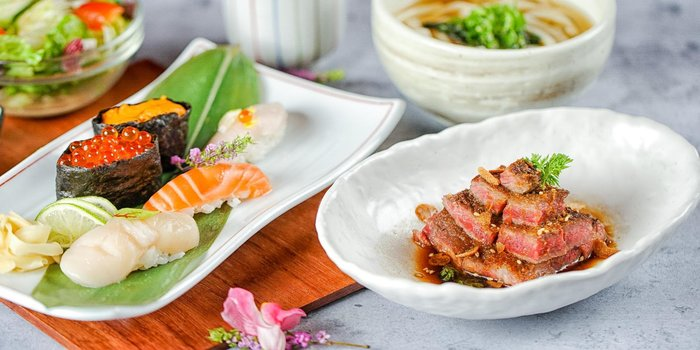 Sushi and Steak Set, AMAZAKE, Central, Hong Kong
