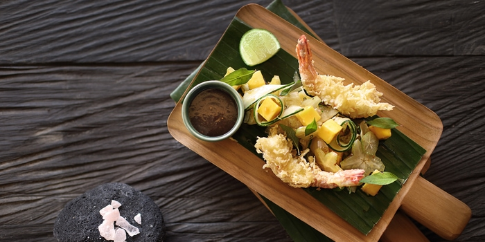 Tempura Prawns at Spice Ubud