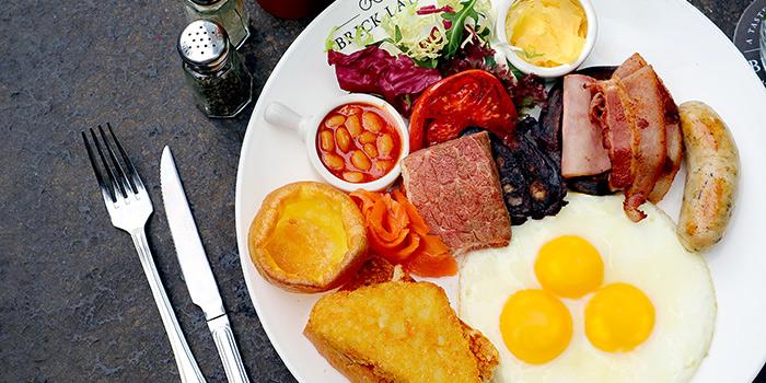 Full English All Day Breakfast, BRICK LANE, Causeway Bay, Hong Kong