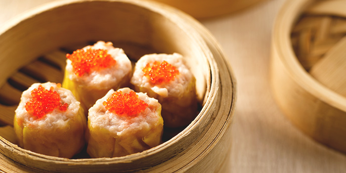 Steamed Siew Mai with Crab Roe from Crystal Jade Hong Kong Kitchen (Causeway Point) in Woodlands, Singapore