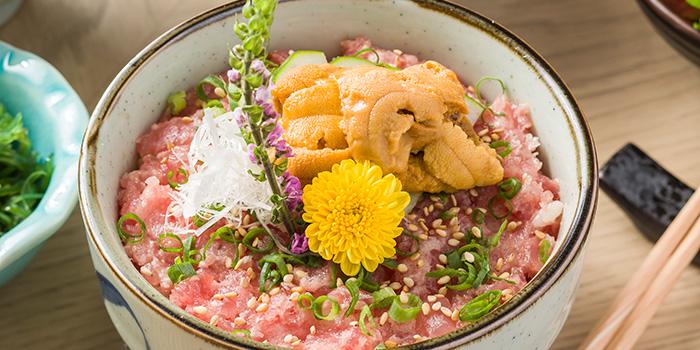 Chopped Toro and Uni Rice Bowl Set, Shoku Japanese Binchotan Grill, Repulse Bay, Hong Kong
