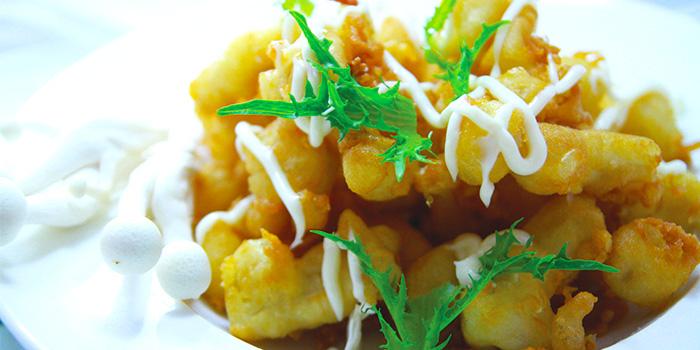 Mushroom Fritter from Der Biergarten in Dhoby Ghaut, Singapore