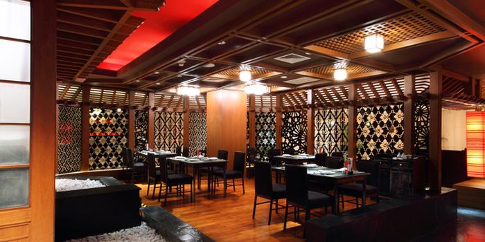 Dining Area from Hagi Restaurant at Centara Grand at Central Plaza Ladprao Bangkok, Bangkok