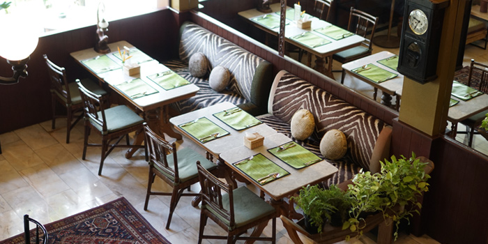 Dining Area from Jim Thompson Restaurant and Lounge on Surawong Road, Bangkok