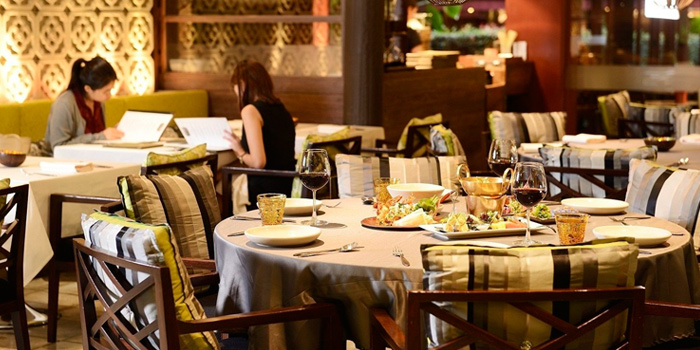Dining Table from Jim Thompson Restaurant and Wine Bar on Rama 1 Road, Bangkok