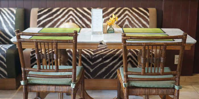 Dining Table from Jim Thompson Restaurant and Lounge on Surawong Road, Bangkok