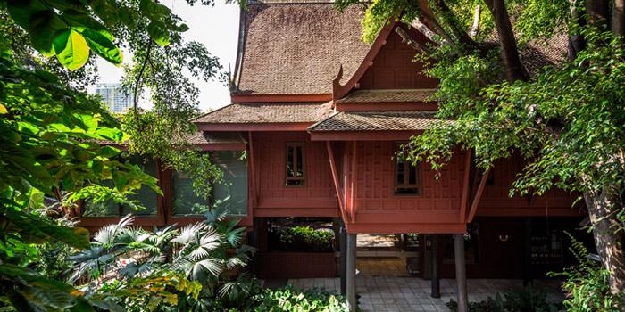 Exterior of Jim Thompson Restaurant and Wine Bar on Rama 1 Road, Bangkok