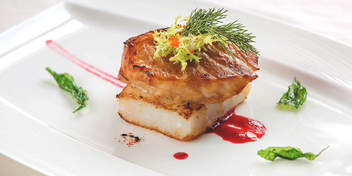 Baked Sea Perch with Red Wine Sauce from Golden Peony in Conrad Centennial Hotel in Promenade, Singapore