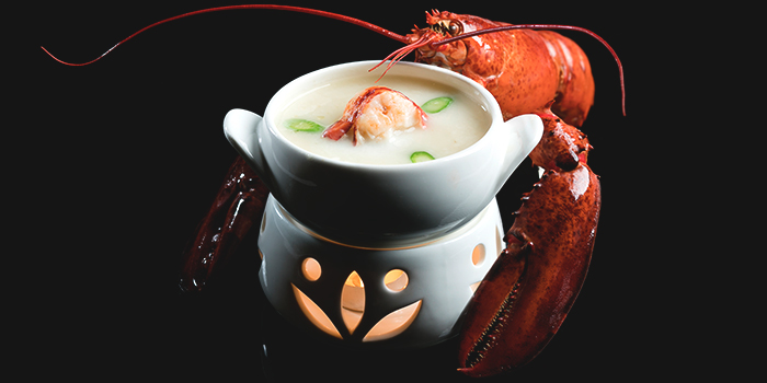 Double-boiled Maine Lobster and Organic Prawn from Golden Peony in Conrad Centennial Hotel in Promenade, Singapore
