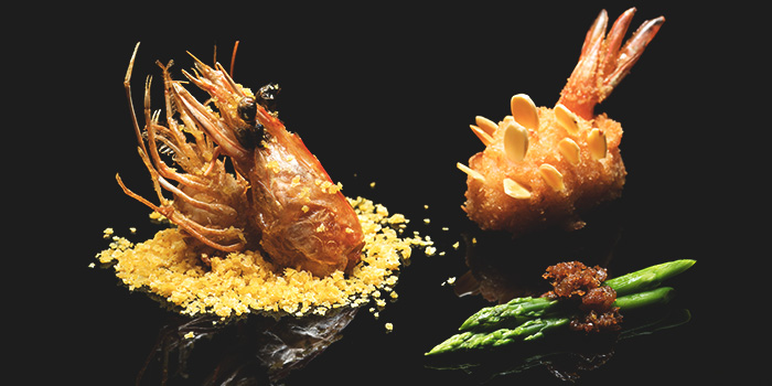 New Caledonia Obsiblue Prawn from Golden Peony in Conrad Centennial Hotel in Promenade, Singapore