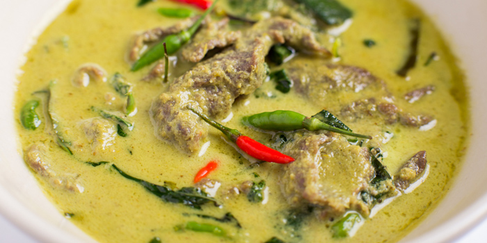 Green Curry from Jim Thompson Restaurant and Lounge on Surawong Road, Bangkok