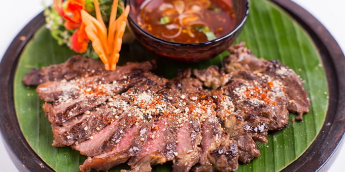 Grilled Beef from Jim Thompson Restaurant and Lounge on Surawong Road, Bangkok