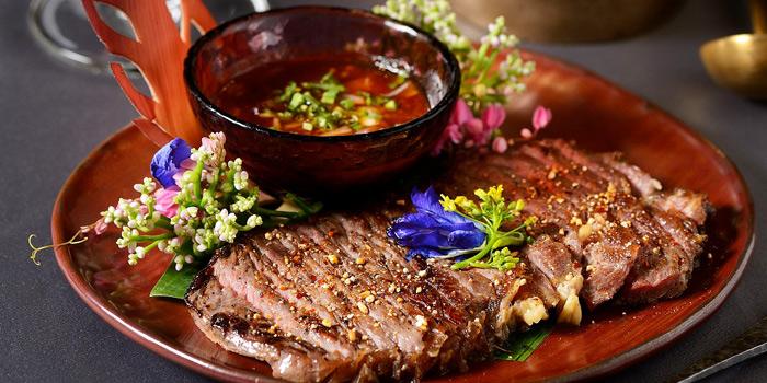 Grilled Pork Neck from Jim Thompson Restaurant and Wine Bar on Rama 1 Road, Bangkok