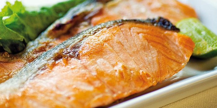 Grilled Salmon from Hagi Restaurant at Centara Grand at Central Plaza Ladprao Bangkok, Bangkok