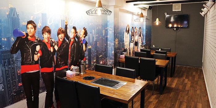 Interior of Korean Fusion BBQ (Dunlop Street) in Jalan Besar, Singapore