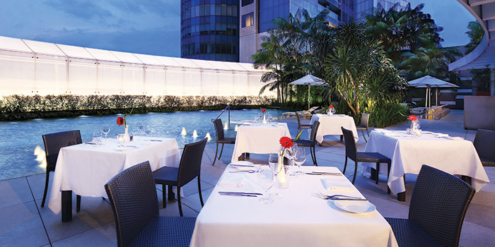 Dining Area of LaBrezza at The St. Regis Singapore in Tanglin, Singapore