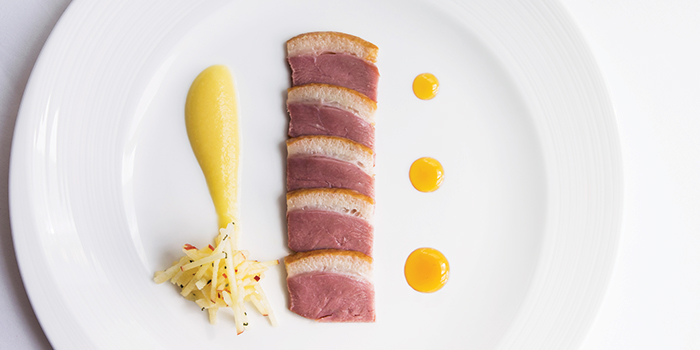 Duck Breast, Apple Compote, Rosemary Gastrique from LaBrezza at The St. Regis Singapore in Tanglin, Singapore