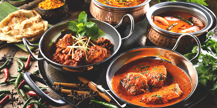 Indian Food Spread from Latest Recipe at Le Méridien in Sentosa, Singapore