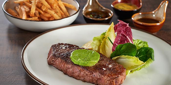 Steak from La Brasserie in Fullerton Bay Hotel, Singapore