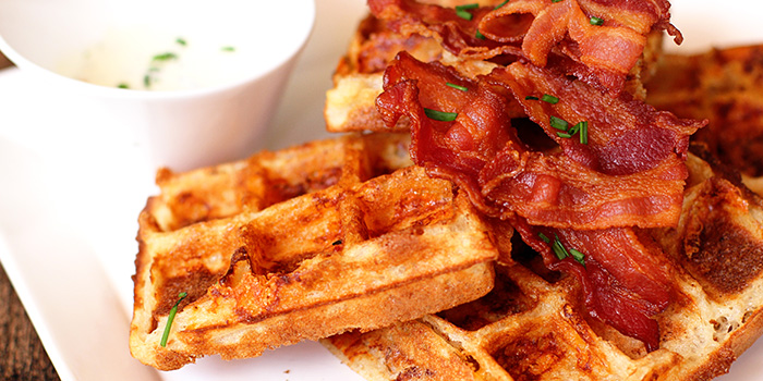 Cheddar Cheese Bacon Waffles from Nassim Hill Bakery Bistro Bar at Tanglin Post Office in Tanglin, Singapore