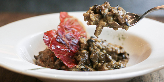Mushroom Risotto from Nassim Hill Bakery Bistro Bar at Tanglin Post Office in Tanglin, Singapore