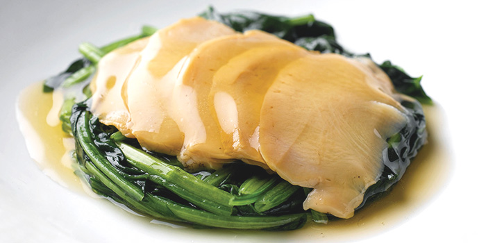 Abalone with Vegetable from No Signboard Seafood (Esplanade Mall) in Promenade, Singapore