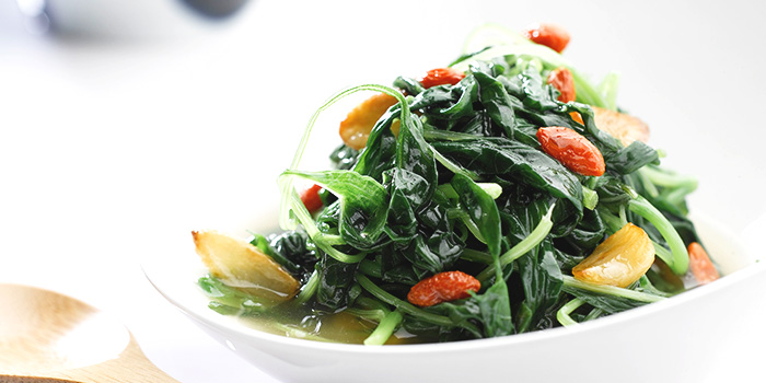 Chinese Spinach in Clear Broth from No Signboard Seafood (Esplanade Mall) in Promenade, Singapore