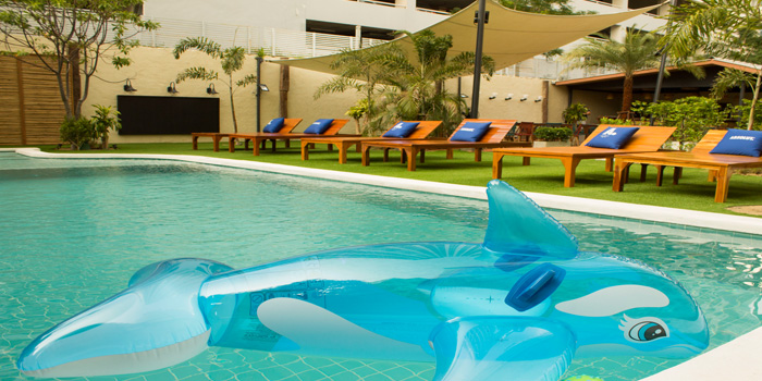 Swimming Pool from Blue Parrot on Sathorn Road, Bangkok