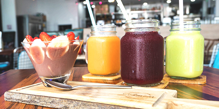 Acai and Juices from Schmear at Quayside Isle in Sentosa, Singapore