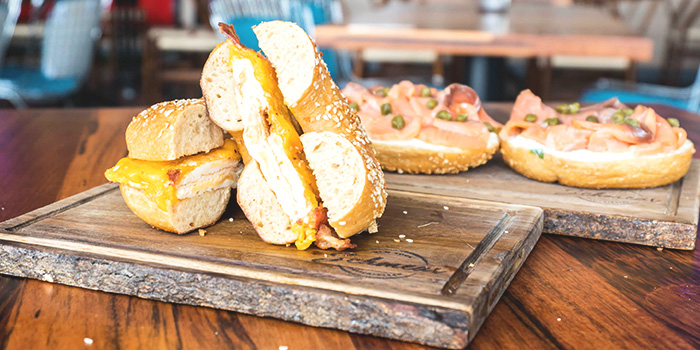 Bagel Sandwiches from Schmear at Quayside Isle in Sentosa, Singapore