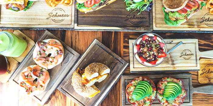 Breakfast-Lunch Spread from Schmear at Quayside Isle in Sentosa, Singapore