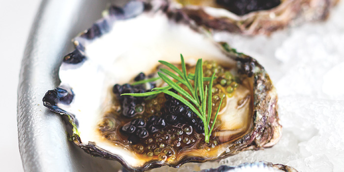 Oysters, Soy, Sesame Wasabi, Avruga Caviar from Salt Grill & Sky Bar at Ion Orchard, Singapore