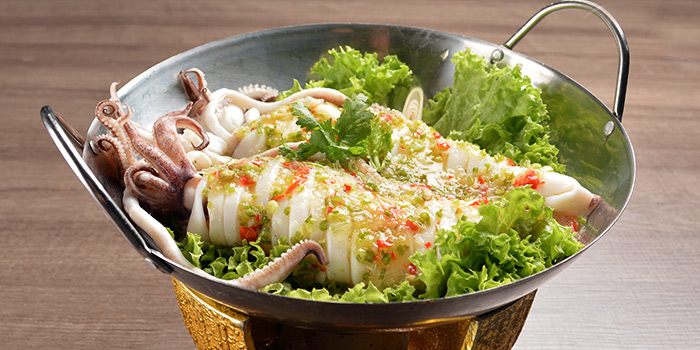 Steam Squid with Thai Lime Sauce from Siam Thai Tuckshop at SAFRA Punggol in Punggol, Singapore