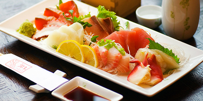 Sashimi Plate from Hagi Restaurant at Centara Grand at Central Plaza Ladprao Bangkok, Bangkok