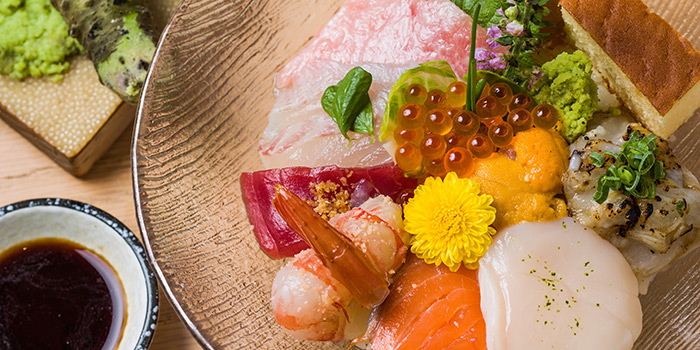 Sashimi Rice Bowl, Shoku Japanese Binchotan Grill, Repulse Bay, Hong Kong