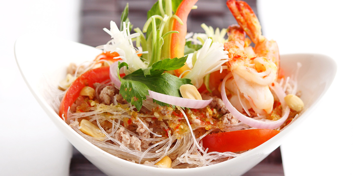 Seafood Glass Noodle Salad from Jim Thompson Restaurant and Lounge on Surawong Road, Bangkok